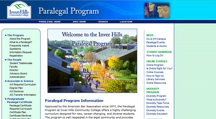 Paralegal Program at Inver Hills Community College
